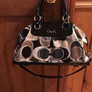 Coach Ashley Scarf Print Handbag